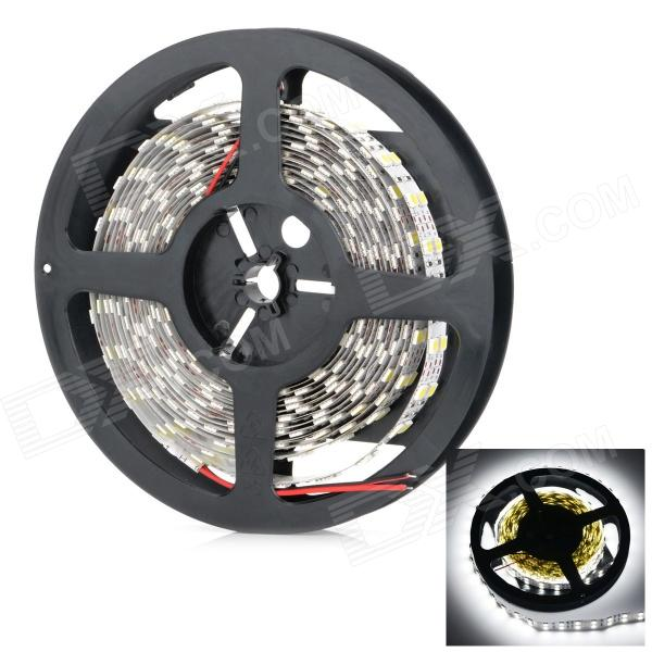 Non-Waterproof Dual Row 144W 5800lm 600-SMD 5050 White Light Strip (12V / 5m)
