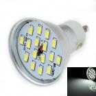 LUO DB01 GU10 8W 600lm 6000K 16-SMD 5630 LED White Light Spotlight - Silver (85~265V)