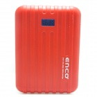 "ENCO ""12000mAh"" Power Source Bank w/ Digits Display for IPHONE / IPAD / Cell Phone / MP3 - Red"