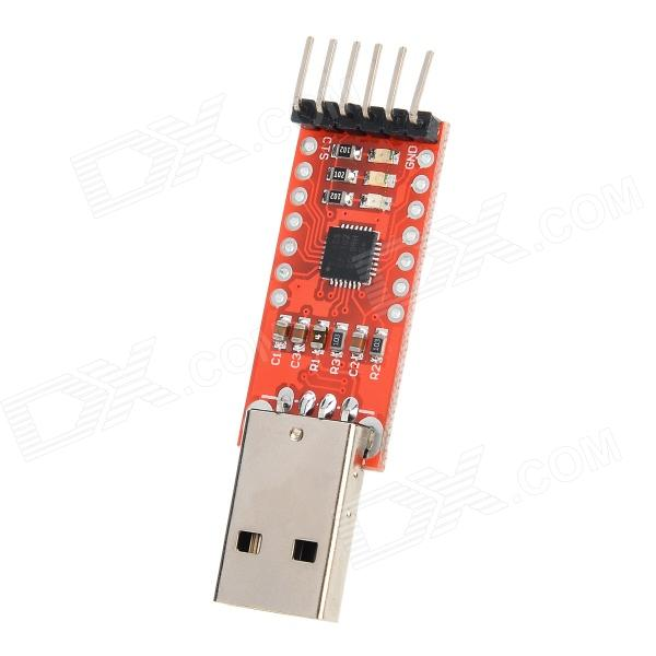 USB to TTL CP2102 Serial Module - RedBoards &amp; Shields<br>ColorRedBrandN/AModelN/AQuantity1 PieceMaterialCCL + componentsEnglish Manual / SpecYesPacking List1 x Module<br>