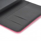 Stylish Flip-open Split Leather Case w/ Holder + Card Slot for Motorola MOTO G / DVX - Deep Pink