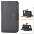 IKKI Classic Flip-open Split Leather Case w/ Holder + Card Slot for Motorola MOTO G / DVX - Black