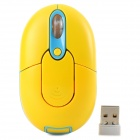 Promi MF-310 2.4G USB 2.0 800 / 1200 / 1600dpi Wireless Optical Mouse - Yellow + Blue
