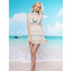 Fashion Cotton Crochet Beach Dress - White