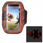 Sunshine PVC + Nylon Armband w/ 3-Mode 6-LED / Switch for Samsung i9300 / i9500 - Orange + Black