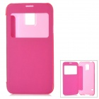 Protective Plastic Flip-open Case for Samsung Galaxy S5 - Deep Pink
