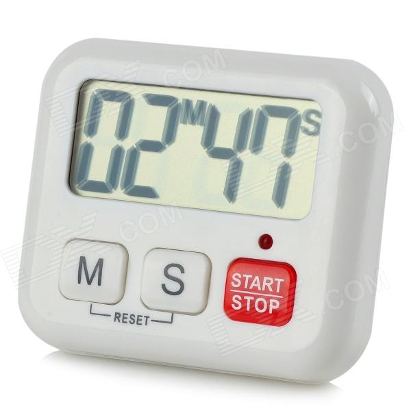 "BK-029 2 ""Big Screen Digital Timer - Branco (1 x AAA)"