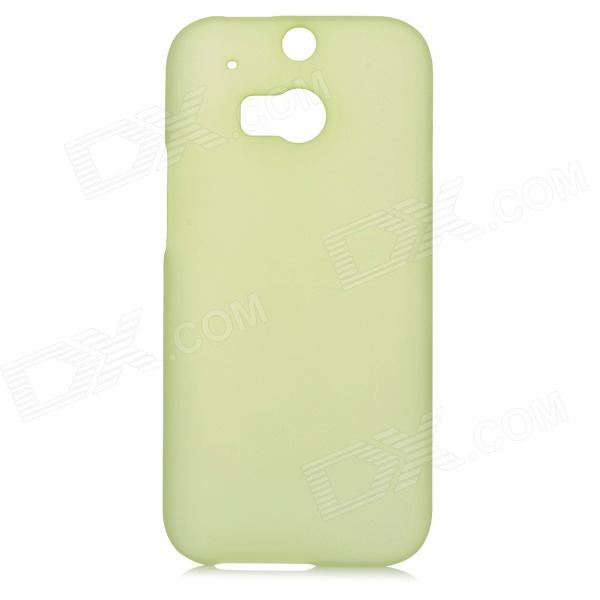 Fashionable Matte PC Back Case for HTC ONE 2 (M8) - Translucent Green