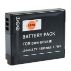 DSTE DMW-BCM13E BCM13GK 1800mAh Li-ion Battery for Panasonic DMC-ZS30 TZ40 TZ41 TS5 FT5 DSLR Cameras