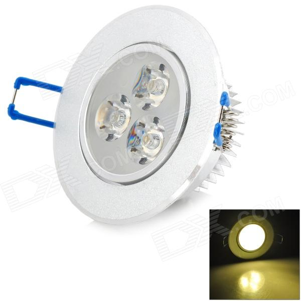 3W 180lm 3000K 3-LED Warm White Ceiling Light (85~265V)