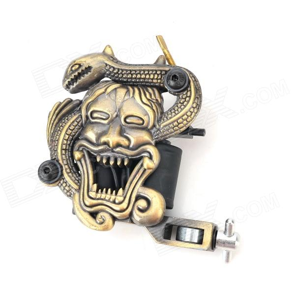 JUQI Low Carbon Steel Tattoo Machine - Bronze + Black + Silver