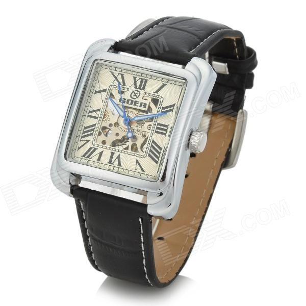 Retro Squrae Dial Unisex Self-Winding Automatic Mechanical Analog Wrist Watch
