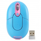 Promi MF-310 2.4G USB 2.0 800 / 1200 / 1600dpi Wireless Optical Mouse - Blue + Pink