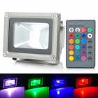 LIT HK-BB01 10W 900lm RGB LED Projection Lamp / Flood Light - Black + Silver (85~265V)