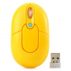 Promi MF-310 2.4G USB 2.0 800 / 1200 / 1600dpi Wireless Optical Mouse - Yellow