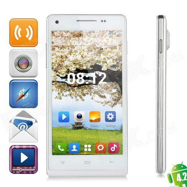 KingSing K3 Dual-core Android 4.2.2 WCDMA Smartphone w/ 4.7″ IPS, Wi-Fi and GPS – White