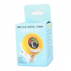 Rowin LT-21 Mini Clip-on afinador digital LED para guitarra / bajo / violín / Ukelele - amarillo + blanco