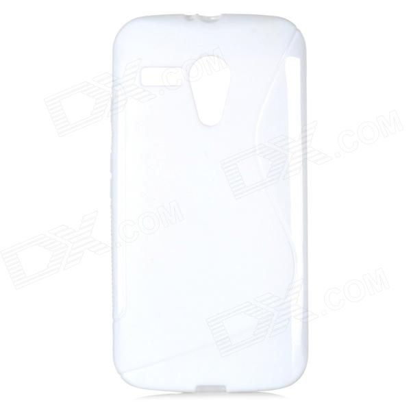 TPU Back Case + HD Screen Protector for MOTO G / MOTO DVX / XT1031 / XT103 - White
