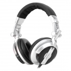 SENICC Professional DJ Wired 3.5mm Headband Style Stereo Earphone - Grey (Cable length 120~360cm)