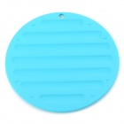 TZ-ZD001TL Round Shape Silicone Anti-shock Insulation Mat / Pad - Light Blue