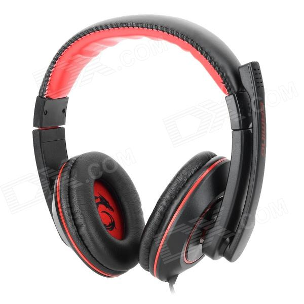 Somic G9 3.5mm Wired Gaming Headphones w/ Microphone - Black (2.2m-Cable) sound friend sf gh400 usb 2 0 wired headphones headset w microphone black 190cm cable