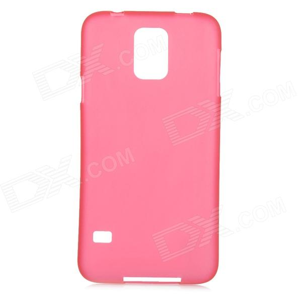 Protective 0.2mm Thin ABS Back Case for Samsung Galaxy S5 - Translucent Red