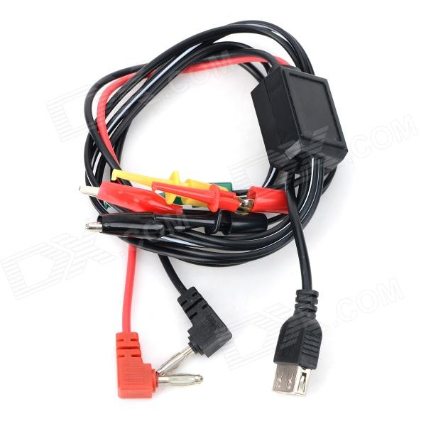 USB Regulator Power Supply Repair Cable for Cell Phone - Black + Red good working original used for 42le4500 eay60803102 pldf l907a power supply 3pcgc10008a r