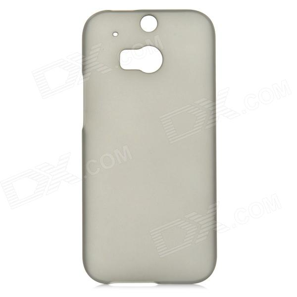 Fashionable Matte PC Back Case for HTC ONE 2 (M8) - Translucent Black matte protective pe back case for htc one x s720e red