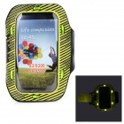 Sunshine PVC + Nylon Armband w/ 3-Mode 6-LED / Switch for Samsung i9300 / i9500 - Yellow + Black