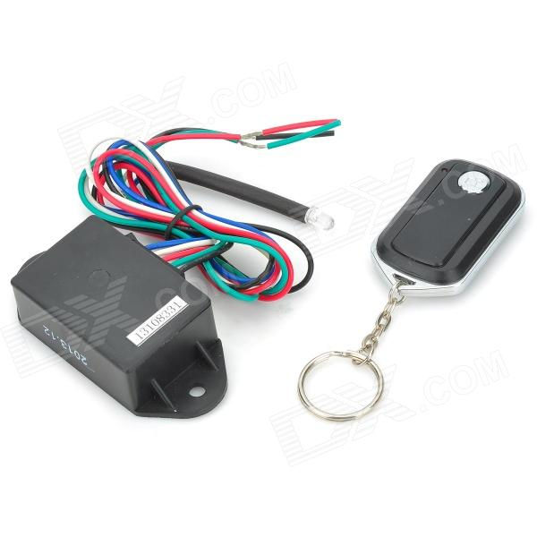 Motorcycle Safe Burglar Alarm w/ Remote Controller - Black + Multi-colored