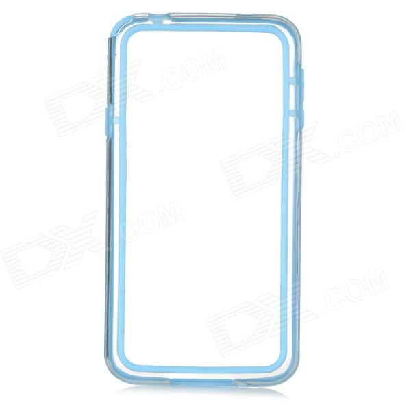 IKKI Stylish Joint Color TPU + PVC Bumper Frame Case for Samsung Galaxy S5 - Transparent + Blue protective tpu pc bumper frame for samsung galaxy s5 mini green
