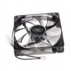 DEEP COOL Silent Cooling Fan PC Case Fan w/ 4 Blue LEDs - Black
