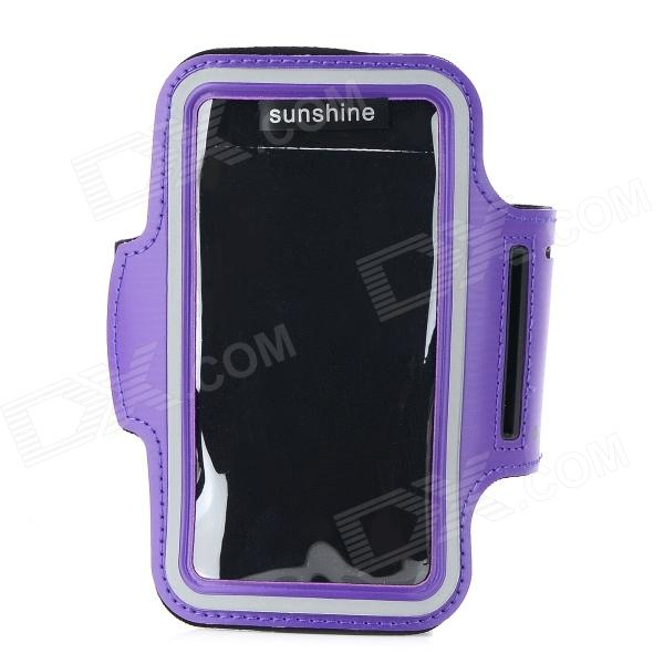 Sports Velcro Band Neoprene + PVC Armband for HTC One 2 / M8 - Purple