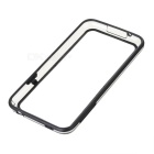 IKKI Stylish Joint Color TPU + PVC Bumper Frame Case for Samsung Galaxy S5 - Transparent + Black