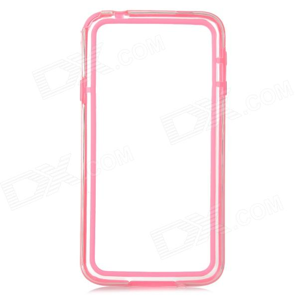 IKKI Stylish Joint Color TPU + PVC Bumper Frame Case for Samsung Galaxy S5 - Transparent + Pink protective pvc tpu back case screen protector for samsung galaxy s5 dark pink
