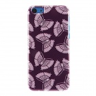 Kinston kst01404 Beautiful Moths Pattern Plastic Back Case for IPHONE 5C - Purple