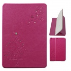 Protective PU Leather Case w/ Stand for IPAD MINI - Deep Pink