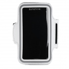 Sports Velcro Band Neoprene + PVC Armband for HTC One 2 / M8 - White