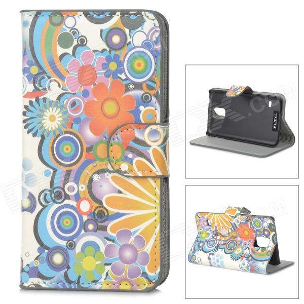 YIYI Stylish Patterned Flip-open PU Case w/ Holder + Card Slot for Samsung Galaxy S5 - Multicolored stylish patterned flip open glow in the dark pu case w holder card slot for iphone 5 5s 5c