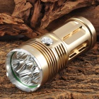 SKYRAY KING 6 x Cree XM-L T6 1300lm 3-Mode White Light Flashlight - Golden (1~4 x 18650)