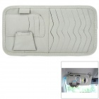 003 Multifunctional Car Sunshade Cover CD Storage Bag - Grey