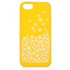 Stylish Patterned Anti-slip Flexible Silicone Back Case for IPHONE 5 / 5S - Yellow + White