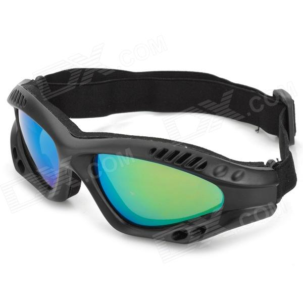 где купить  SW2089 Tactical Windproof Eye-Protection Goggles - Black + Green  дешево