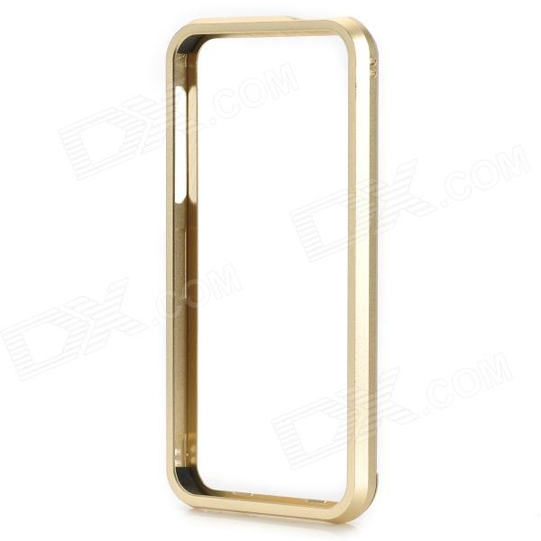 Protective Push-to-disassemble Aluminum Alloy Bumper Frame Case for IPHONE 5 / 5S - Golden