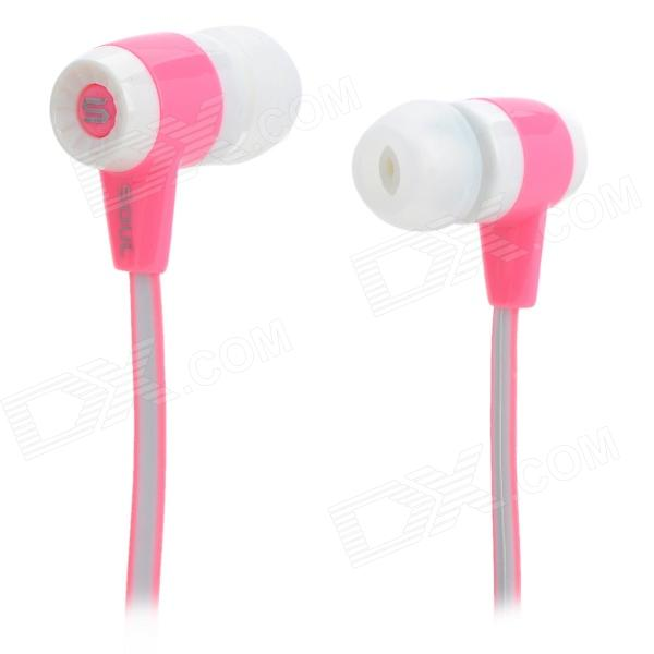 Soul High Quality Stereo 3.5mm In-ear Style Earphone for IPHONE / IPAD / IPOD - White + Pink (117cm)