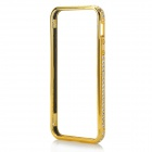 Aluminum Alloy + Rhinestone Metal Bumper Frame Case for IPHONE 5 / 5S - Golden