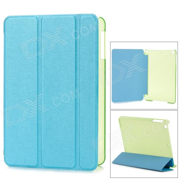 Stylish Flip-open PC Back Case w/ Folding PU Cover / Holder + Auto Sleep for Retina IPAD MINI