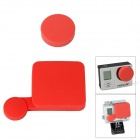 Fat Cat A-LC3+ Professional Silicone Protective Lens Cap Set for Gopro Hero 4/ 3+ / Hero3 Plus - Red