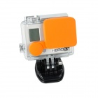 Protectora de la lente Fat Cat A-LC3 + Profesional de silicona Cap Set para GoPro héroe 4/3 + / Hero3 Plus - Orange