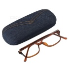 PVC Frame Resin Lens Reading Glasses with Hard Protective Case (+2.50D)